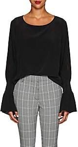 L'Agence Women's Gianne Slit-Sleeve Silk Blouse - Black