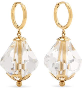 Simone Rocha Gold-tone Crystal Hoop Earrings