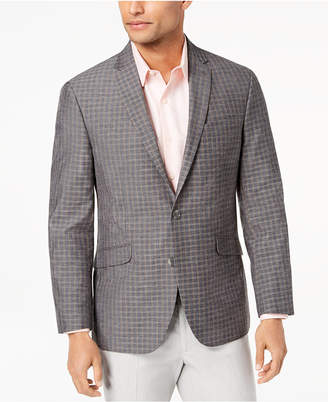 Kenneth Cole Reaction Men's Slim-Fit Brown/Gray Mini-Windowpane Sport Coat, Online Only
