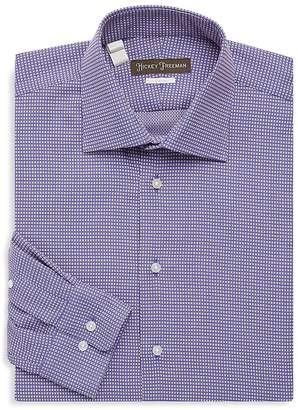 Hickey Freeman Men's Two-Tone Cotton Dress Shirt