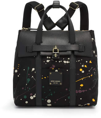 Henri Bendel Jetsetter Mini Convertible Splatter Paint Backpack