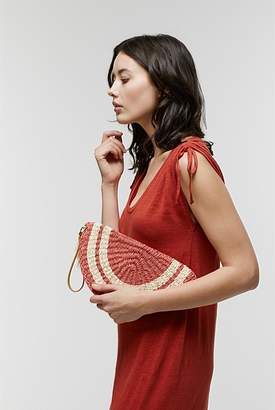 Country Road Stripe Woven Clutch