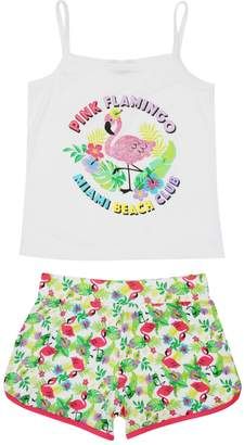 M&Co Teens' flamingo summer pyjamas