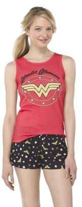 Wonder Woman Juniors' Sleep Tank - Coral