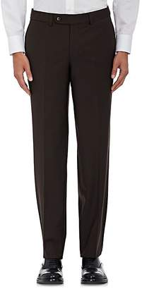 Barneys New York MEN'S VOYAGER WOOL-BLEND TWILL TROUSERS