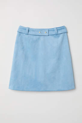 H&M Faux Suede Skirt - Turquoise