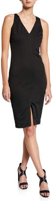 Neiman Marcus Sleeveless Dress w/ Front Slit