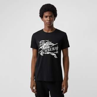 Burberry Collage Logo Print Cotton T-shirt