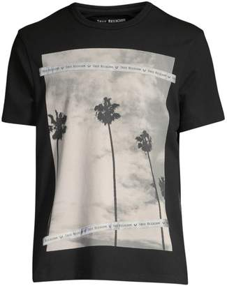 True Religion Palm Tree Photo Print Tee