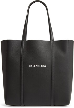 Balenciaga Small Everyday Logo Calfskin Tote