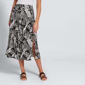 Split Floral Skirt
