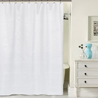 """+Hotel by K-bros&Co Carnation Hotel Quality Waffle Weave Shower curtain with Metal Grommets in White 70""""x72"""""""
