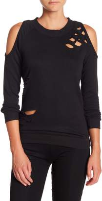 Electric Yoga Cold Shoulder Sweatshirt