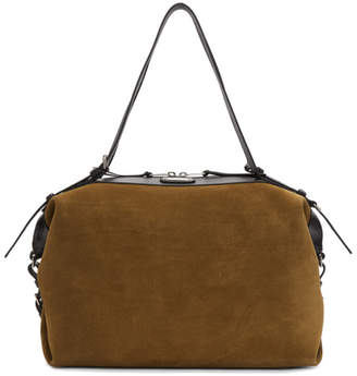 Saint Laurent Brown Suede Medium ID Duffle Bag