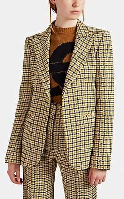 Victoria Beckham Women's Houndstooth-Weave One-Button Blazer - Mustard