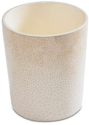 Dappled Wastebasket - Cream