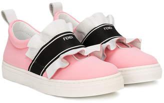 Fendi ruffled slip-on sneakers