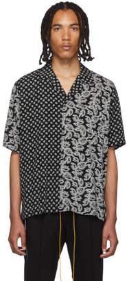 Rhude Black Bandana Panel Hawaiian Shirt