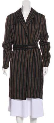 The Row Striped Long Sleeve Coat w/ Tags