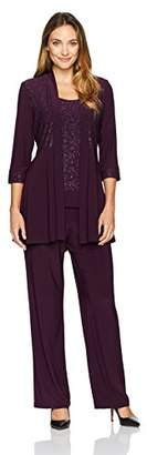 R & M Richards R&M Richards Women's Two Piece Glitter and Lace Pant Set Missy