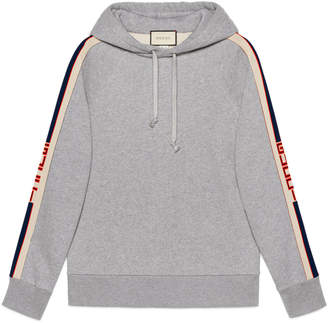 Gucci Hooded sweatshirt with stripe