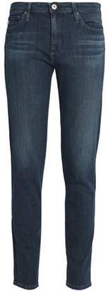 AG Jeans Faded Mid-Rise Slim-Leg Jeans