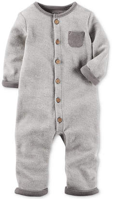 Carter's 1-Pc. Cotton French Terry Cotton Coverall, Baby Boys (0-24 months) $12.98 thestylecure.com