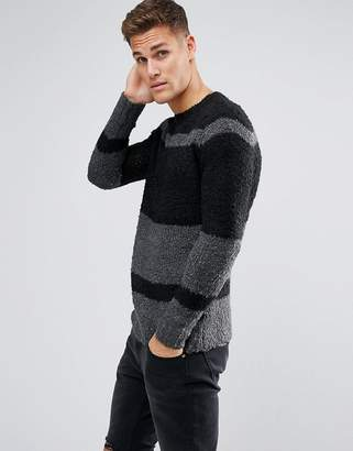 Religion Crew Neck Stripe Sweater