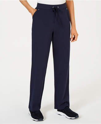 Karen Scott Petite Pull-On French Terry Pants