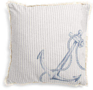 22x22 Oversized Nautical Anchor Pillow