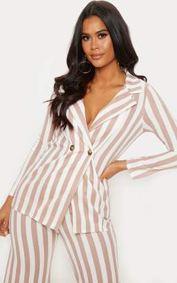 PrettyLittleThing Black Striped Boyfriend Blazer