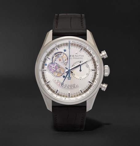 Zenith El Primero Chronomaster 42mm Stainless Steel And Alligator Watch