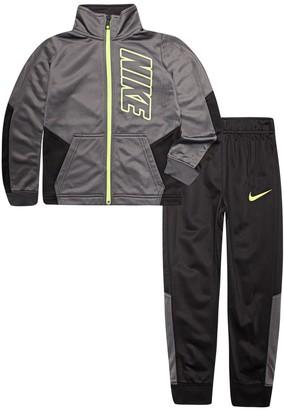 Nike Boys 4-7 Block Tricot Zip Track Jacket & Pants Set