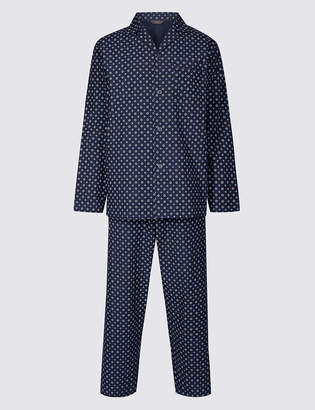 M&S CollectionMarks and Spencer Cotton Blend Printed Pyjama Set