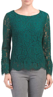 Long Bell Sleeve All Over Lace Top