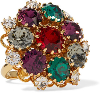 Dolce & Gabbana - Gold-tone Crystal Ring - 54 $375 thestylecure.com