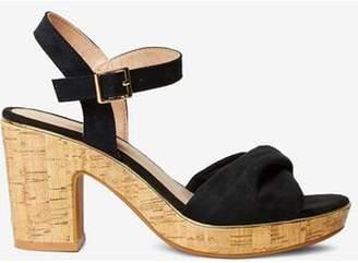 Dorothy Perkins Womens Black 'Roxanne' Wedge Sandals