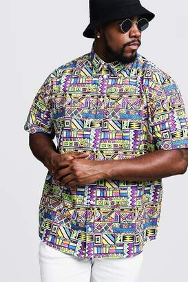 Big & Tall Multi Print Regular Fit Shirt