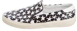 Saint Laurent Leather Star Print Sneakers