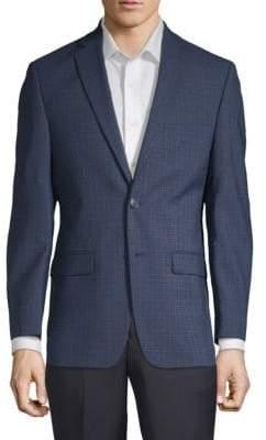 Calvin Klein Extra Slim Fit Plaid Wool Sportcoat