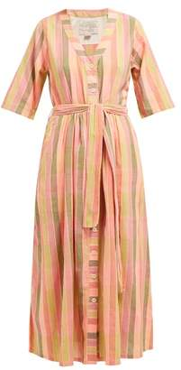 Ace&Jig Leelee Striped Cotton Midi Dress - Womens - Pink Multi
