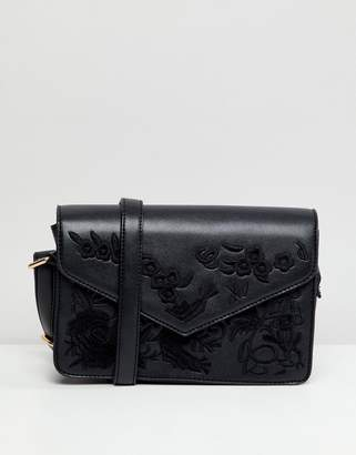 Liquorish Embroidered Crossbody Bag