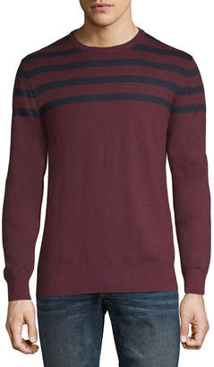Claiborne Mens Crew Neck Long Sleeve Layered Sweaters