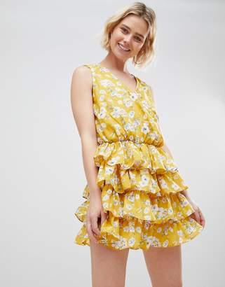 Unique21 Unique 21 Yellow Floral Dress