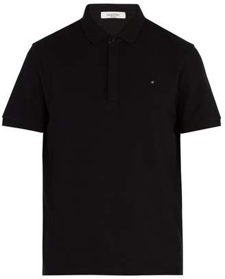 Valentino Rockstud Polo Shirt - Mens - Black
