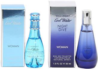 Davidoff Cool Water for Ladies Eau de Toilette Spray Duo, 2x 1 oz./ 30 mL