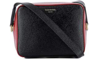 Thom Browne Black Leather Shoulder Bag