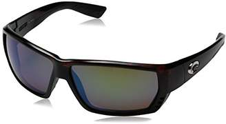 Costa del Mar Unisex-Adult Tuna Alley TA 25 OBMGLP Polarized Iridium Wrap Sunglasses