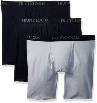 Fruit of the Loom Men's 3-Pack Breathable Long Leg Boxer Brief