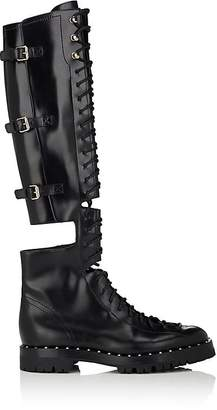 Valentino Women's Soul Rockstud Leather Over-The-Knee Combat Boots